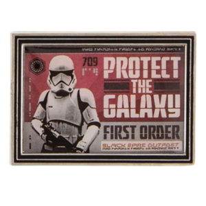 Protect the galaxy - First Order Propaganda Poster Mystery Pin Set – Star Wars: Galaxy's Edge pin