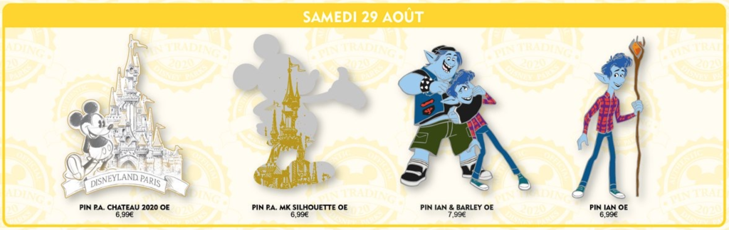 Saturday 29th August pin releases