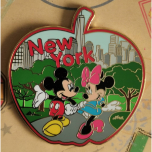 Disney Store - New York Apple - Mickey and Minnie  pin