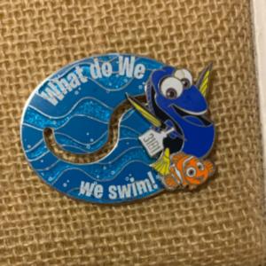 Nemo and Dory swimming pin