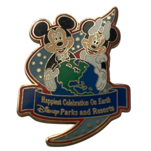 Happiest Celebration on Earth Disney Parks and Resorts Mickey and Minnie  pin