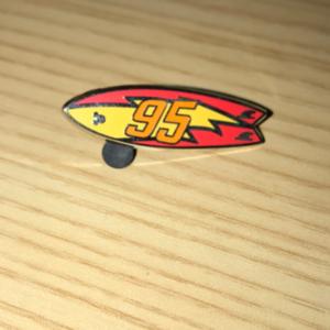 Hidden Mickey 2018 Wave A. Lightning McQueen Surfboard  pin