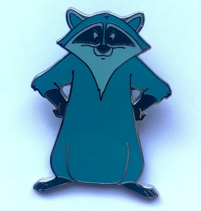 Meeko in power pose pin