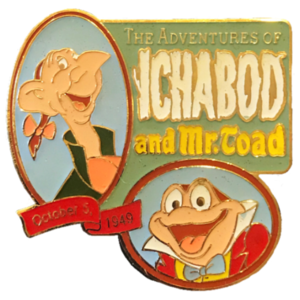 The Adventures of Ichabod and Mr. Toad Countdown to the Millennium pin