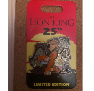 Scar and Hyenas Lion King 25th Anniversary Pin pin