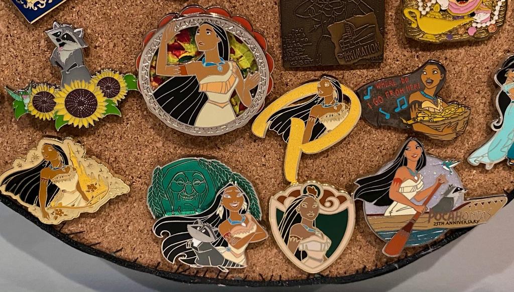 A collection of Pocahontas pins!