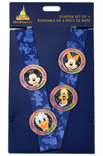 Pluto - 50th lanyard starter set - Walt Disney World 50th Anniversary pin