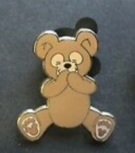 Duffy Sitting - Hidden Mickey Duffy the Disney Bear pin