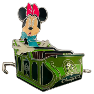 Minnie Mouse in ride vehicle - Mystic Point Grand Opening 2013 pin