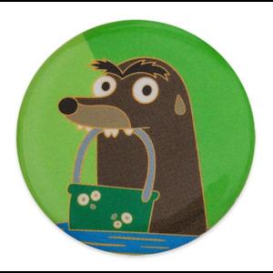 Gerald bucket button/badge pin
