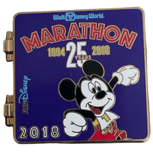 Marathon WDW 25 years 2018 runDisney pin