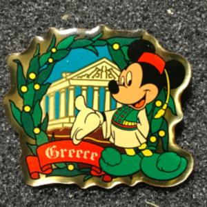 Morinaga Greece Mickey  pin