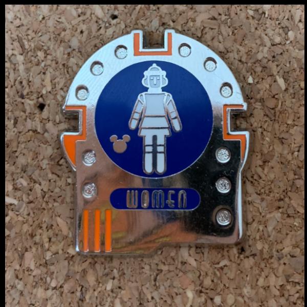 Space Mountain - Womens Restroom - Hidden Mickey pin
