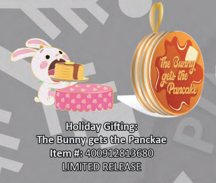 The Bunny gets the pancake pin