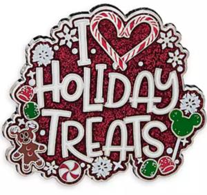 I love holiday treats pin