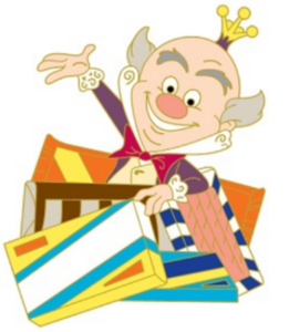 King Candy Surrounded By Chocolate Boxes pin