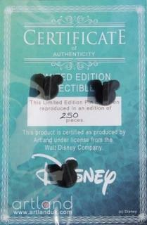 An example of the backing card that shows the certificate of authenticity