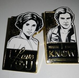 Star Wars I Love You I Know Set pin