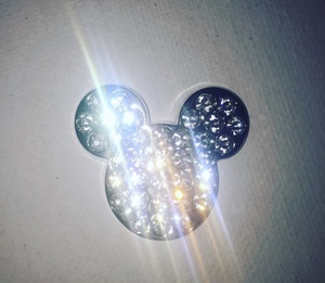Jeweled Mickey Mouse Head (White) pin
