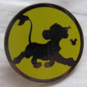 Simba - Hidden Mickey Silhouette pin