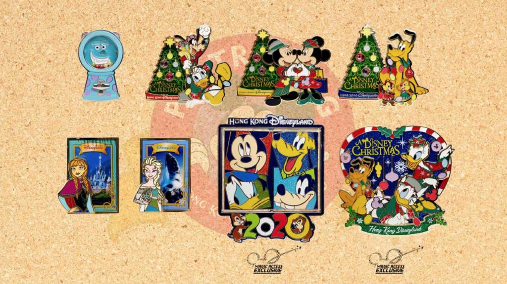 Hong Kong Disneyland December 2019 pin releases