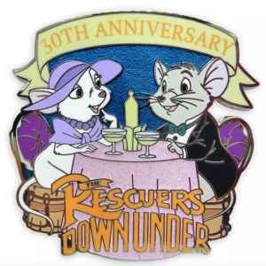 The Rescuers Down Under 30th Anniversary pin