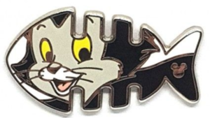 Figaro - Hidden Mickey Fishbone pin