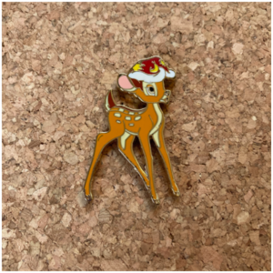 DLP - Bambi in Santa hat  pin