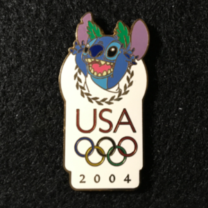 USA 2004 Olympic logo Stitch pin