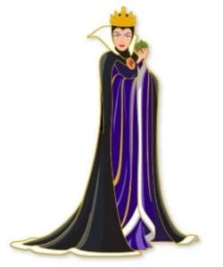 Artland - Evil Queen - The Villains Cut Out Series pin
