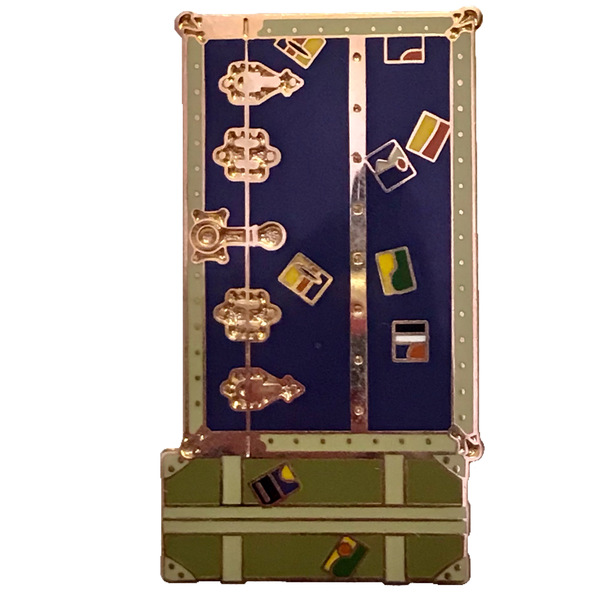 DLR - Cast Member Exclusive - Hollywood Tower Hotel: Tower of Terror Icon Set - Steamer Trunk Luggage Set pin