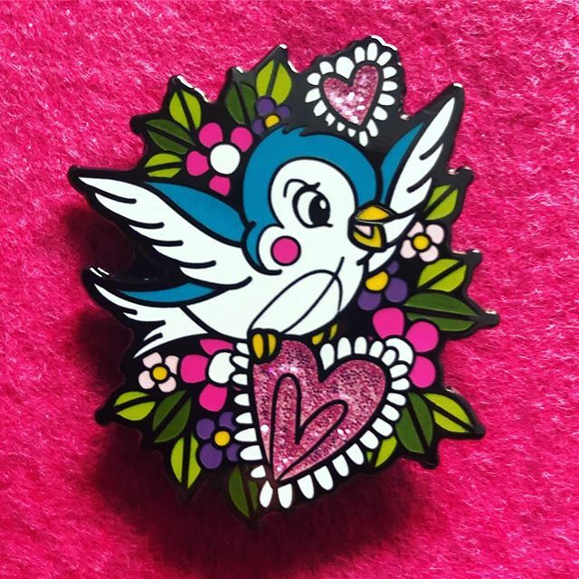 The pin we are giving away