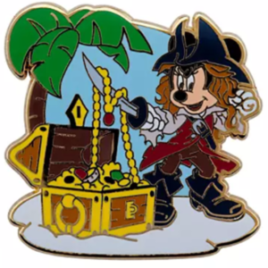 Minnie Mouse treasure chest pin