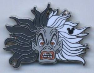 Cruella De Vil  - Hidden Mickey pin