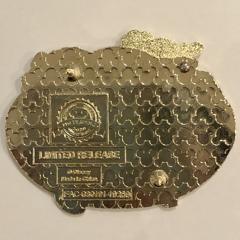 """Back of pin with """"Made in China"""" stamp"""