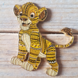 Simba with African stripes  pin