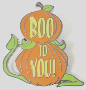 Boo to You Pumpkins Mystery Halloween 2019 pin