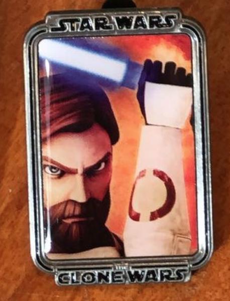 Obi-Wan Kenobi Clone Wars Mystery Portrait pin