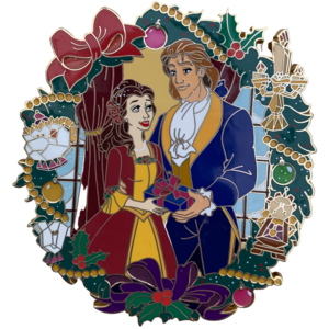 Beauty and the Beast jumbo Enchanted Christmas fantasy pin pin