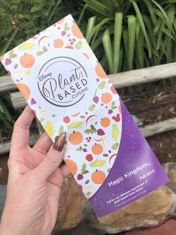 Plant based guide for Magic Kingdom available from Guest Services