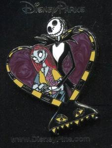 Nightmare Before Christmas - Jack and Sally Harlequin Demon Heart pin