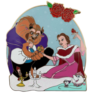 Love Finds a Way - Beauty and the Beast jumbo pin