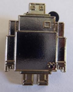 Baymax 8-bit Hidden Mickey (Chaser) pin
