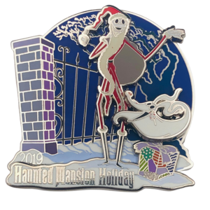 Jack and Zero Haunted Mansion Holiday 2019 pin