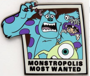 Monstropolis Most Wanted - 3D Re-Release pin