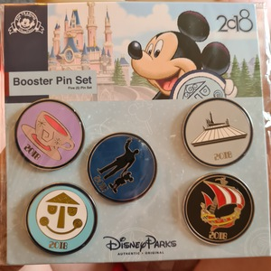 5 pin 2018 booster pin attraction set - complete set pin