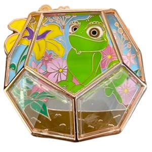 POM Where Fantasy Grows – A Disney Terrarium Series - Pascal and Sundrop flower pin