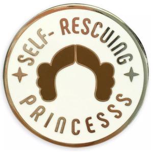 Self-Rescuing princess Leia pin