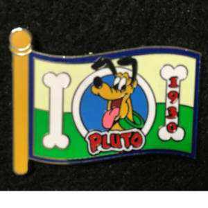 WDW Character Flag Mystery Pluto  pin