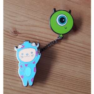 Sully and Mike Cosplay pin